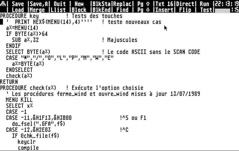 GFA, Python, C, Java... discutons langages de programmation Gfabas11