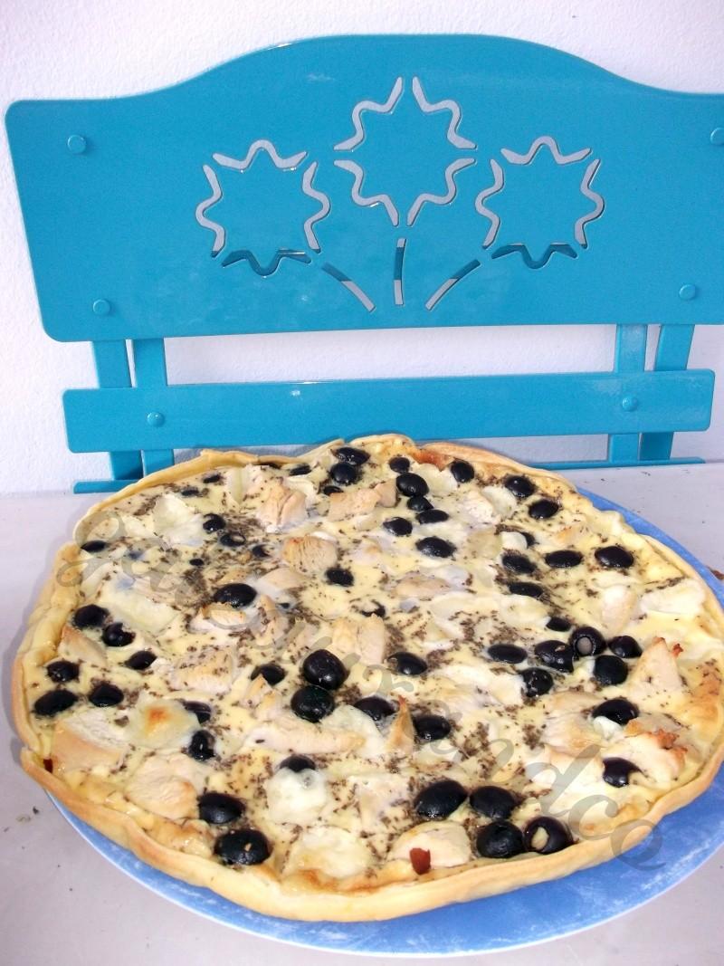 quiche au poulet, olives noires, mozzarella Photo_21