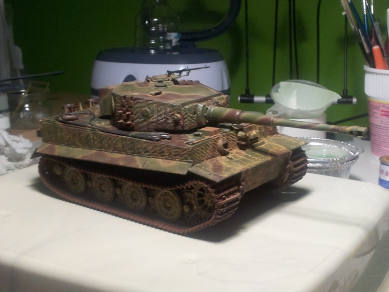 TIgre Ausf E Late version (Tamiya+grilles et canon ABER) 20130510