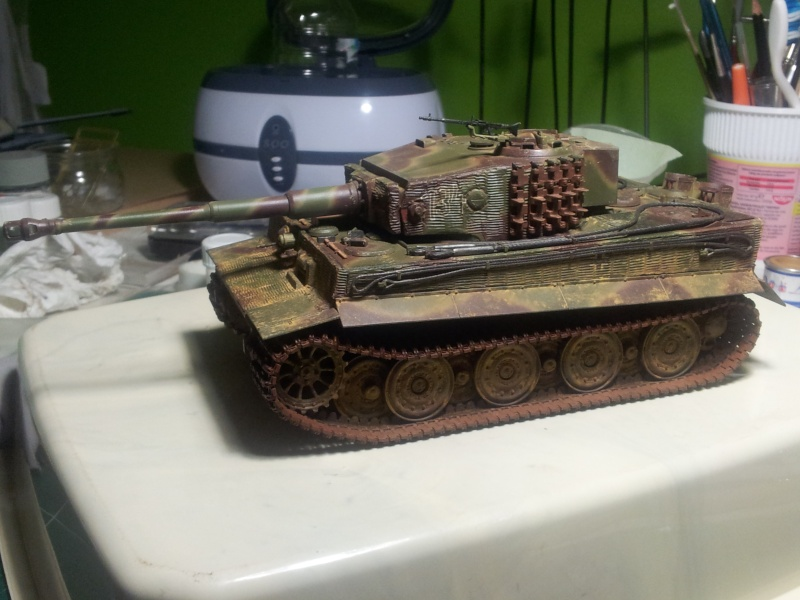 TIgre Ausf E Late version (Tamiya+grilles et canon ABER) 20130511