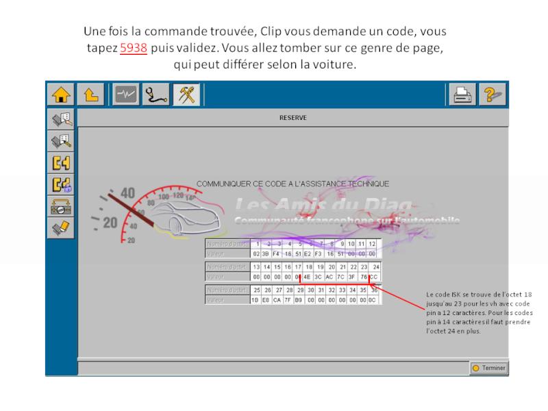 Tuto de récupération du code ISK dans l'UCH avec Renault Pin Extractor  Slide210