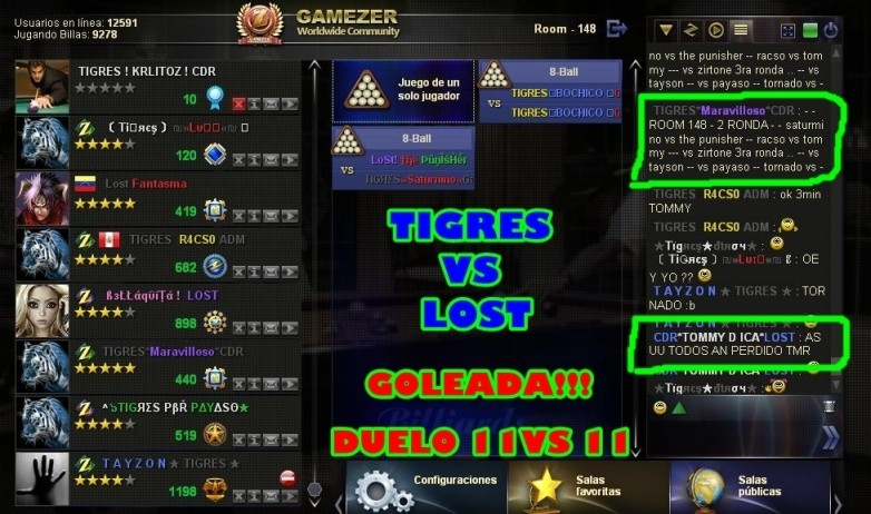 TIGRES VS LOST Gameze10