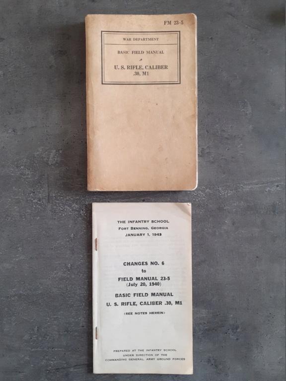 Les livrets manuels notices FM /TM du garand M1 rifle 20210122