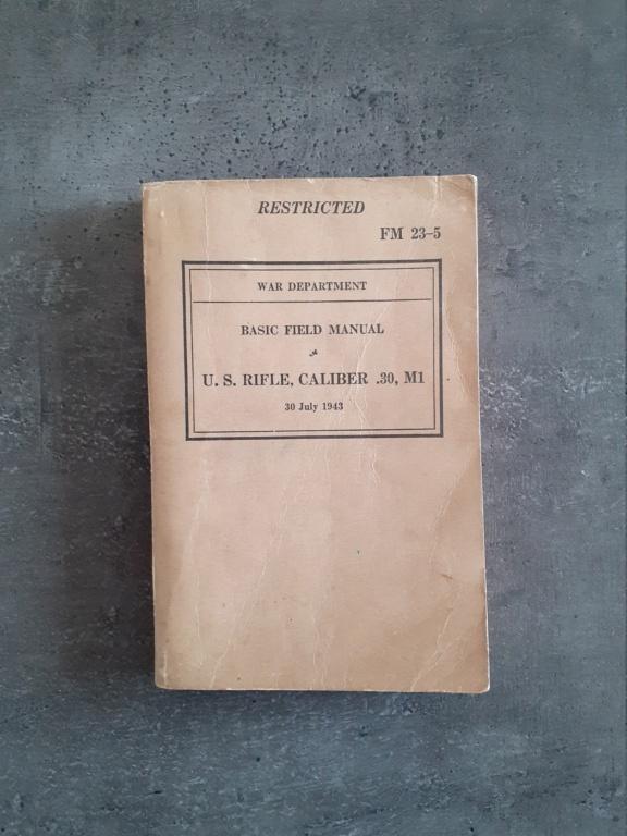 Les livrets manuels notices FM /TM du garand M1 rifle 20210123