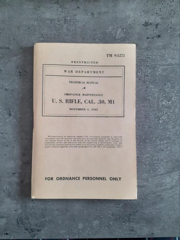 Les livrets manuels notices FM /TM du garand M1 rifle 20210124