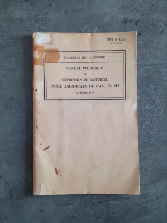 Les livrets manuels notices FM /TM du garand M1 rifle 20210125
