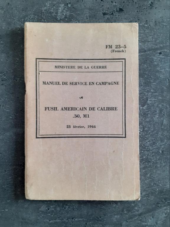 Les livrets manuels notices FM /TM du garand M1 rifle 20210126