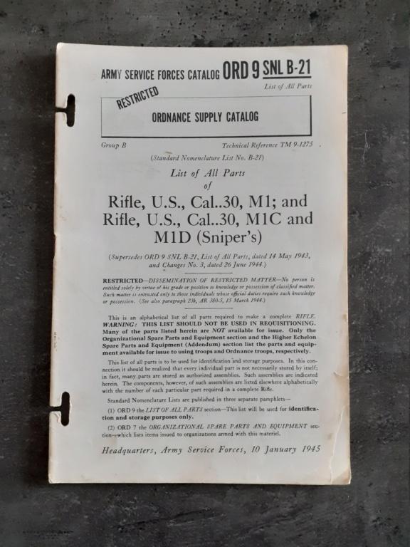 Les livrets manuels notices FM /TM du garand M1 rifle 20210127