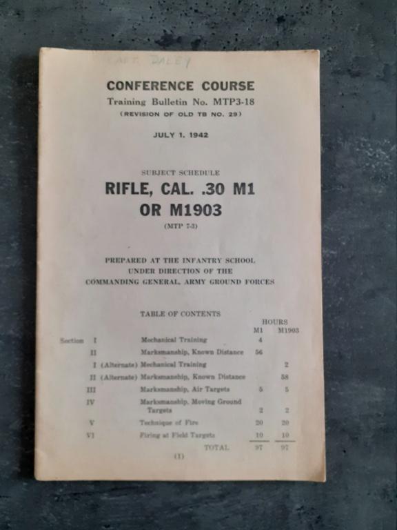 Les livrets manuels notices FM /TM du garand M1 rifle 20210128
