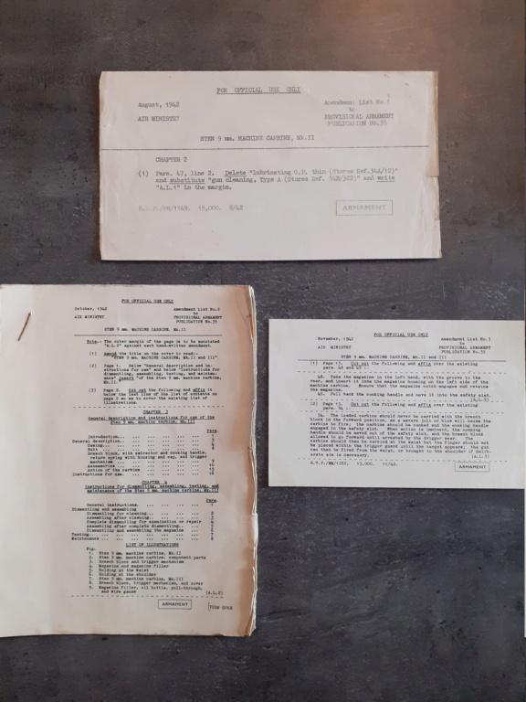 Les livrets / notices du PM STEN 20210132