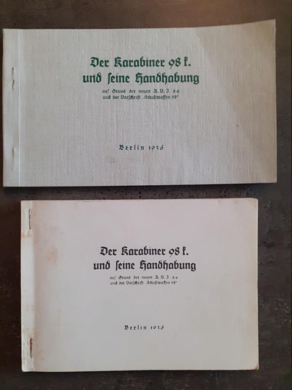 Les livrets  manuels  du gewehr / karabiner 98k 20210139