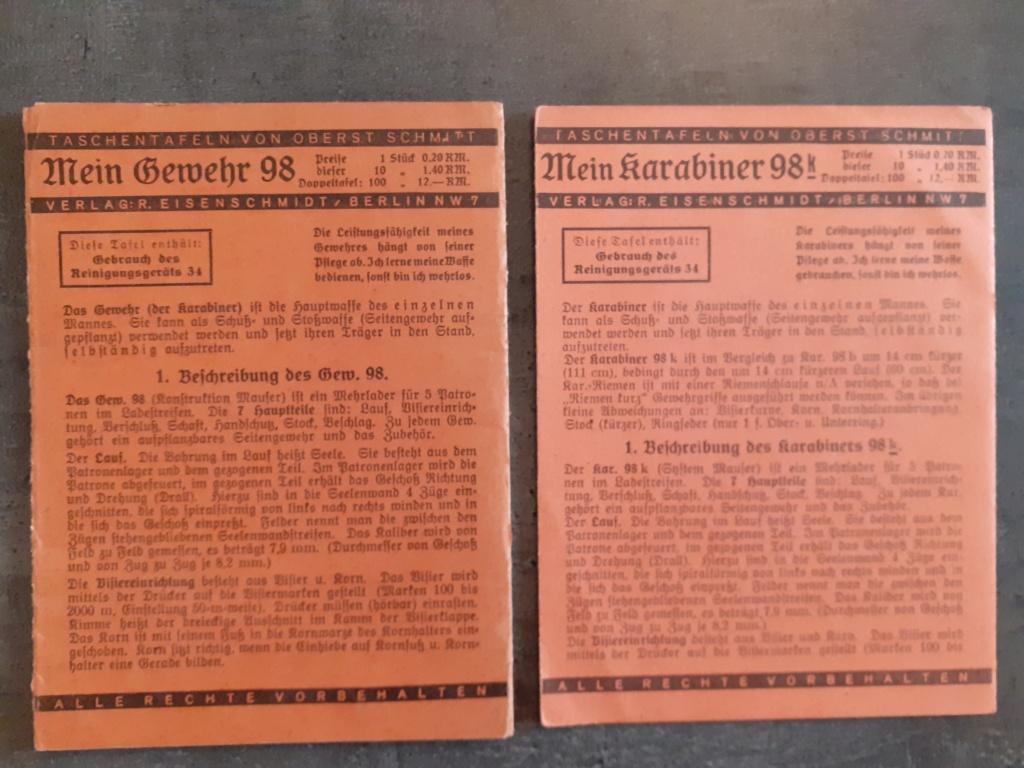 Les livrets  manuels  du gewehr / karabiner 98k 20210140