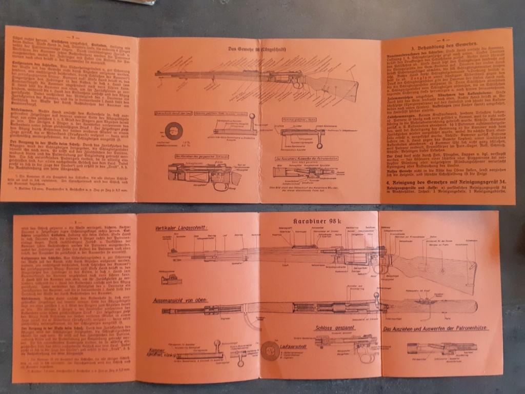 Les livrets  manuels  du gewehr / karabiner 98k 20210141