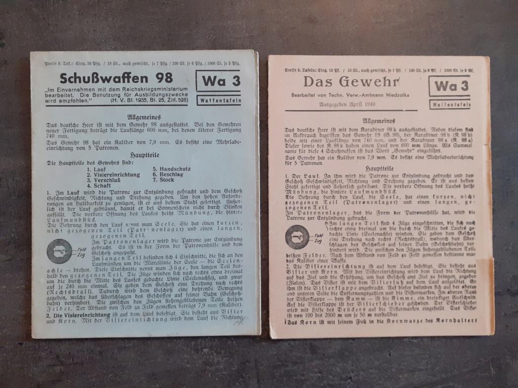 Les livrets  manuels  du gewehr / karabiner 98k 20210142