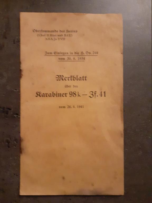 Les livrets  manuels  du gewehr / karabiner 98k 20210157