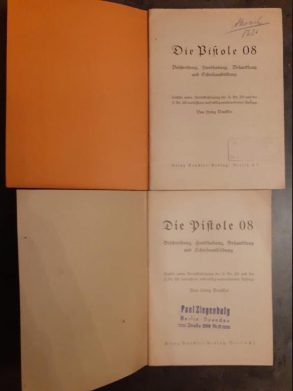 Livrets et manuels du Luger P08 et Parabellum 20210171