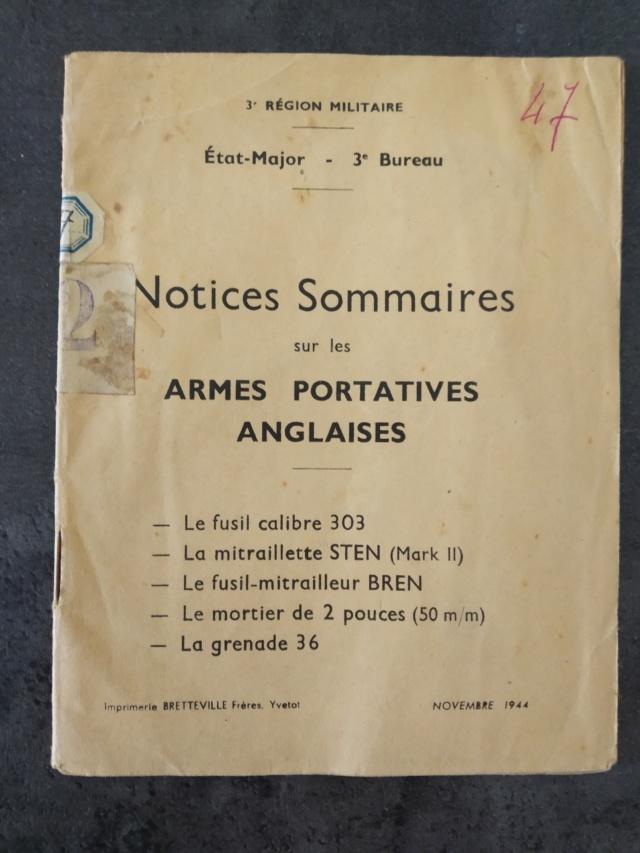 Les livrets / notices du PM STEN Img_2131