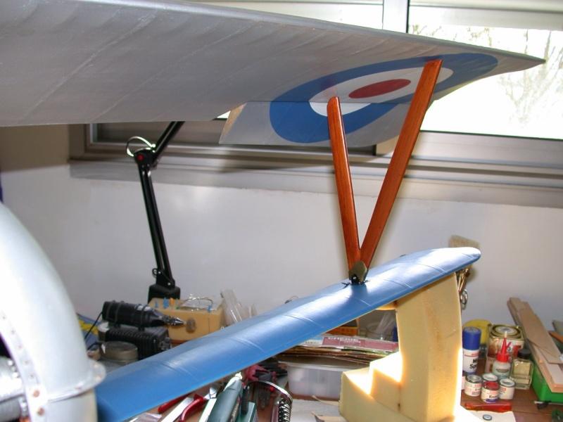 """Maquette """"Nieuport 27"""" positionnement de l'aile basse sesquiplan Dscn7031"""
