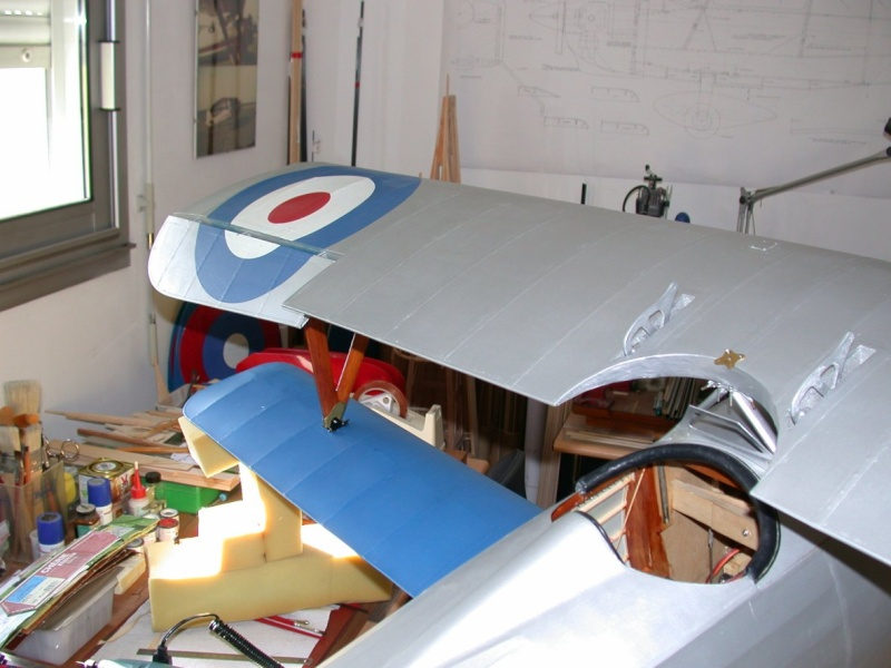 """Maquette """"Nieuport 27"""" positionnement de l'aile basse sesquiplan Dscn7032"""