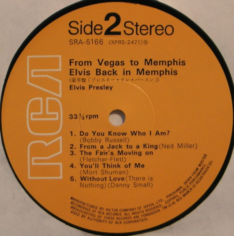 ELVIS IN PERSON / ELVIS BACK IN MEMPHIS 1j10