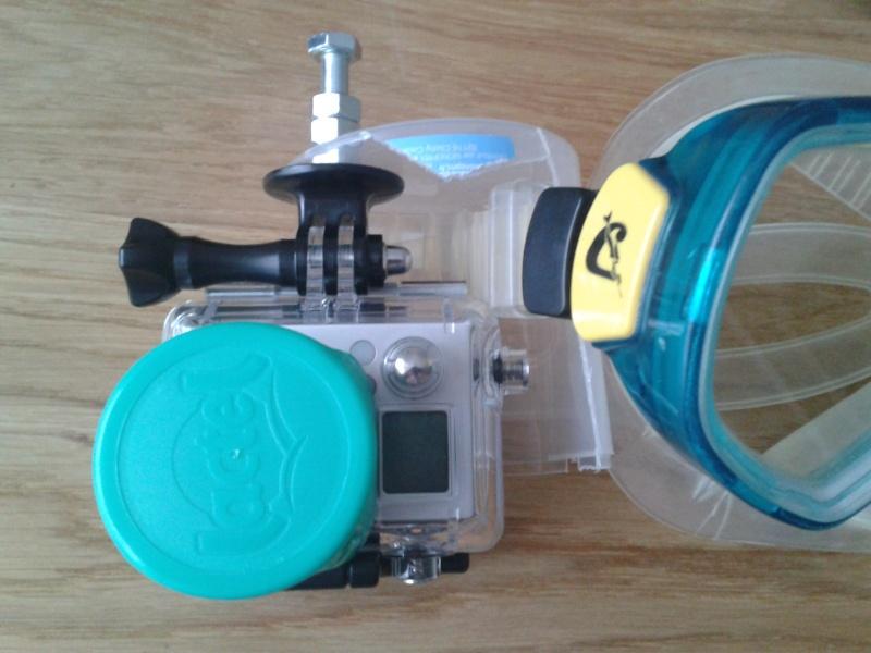 Masque de plongée avec attache GoPro 2013-018