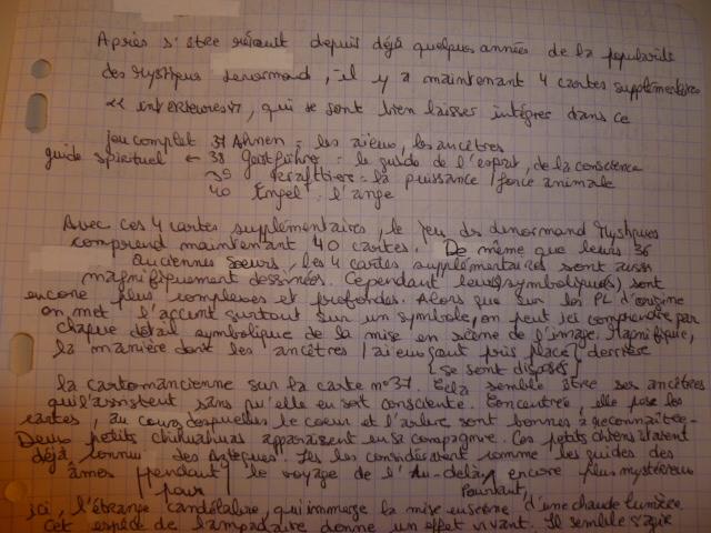 Lenormand Mystique ► Elizabeth Regula Fiechter - Page 8 P1050723