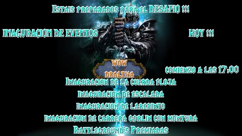 INAGURACION DE EVENTOS - HOY - A LAS 17:00 !!! Evento10