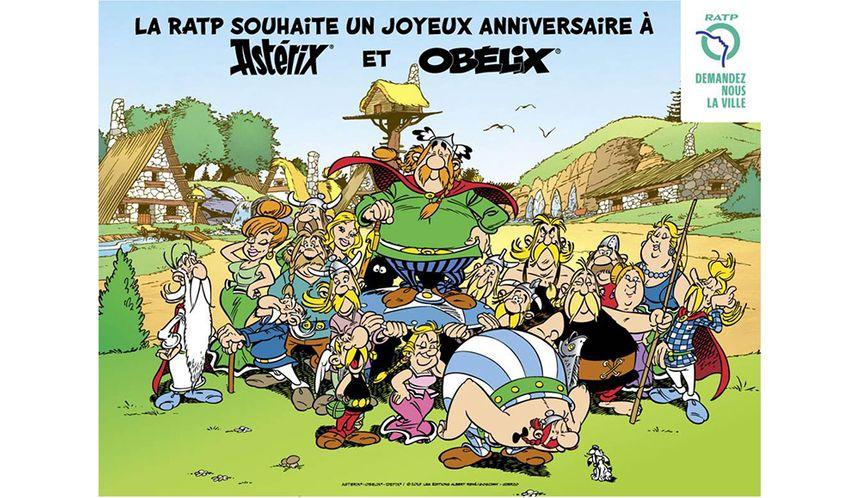Hommage de la RATP pour les 60ans d'Asterix et d'Obelix Asteri13