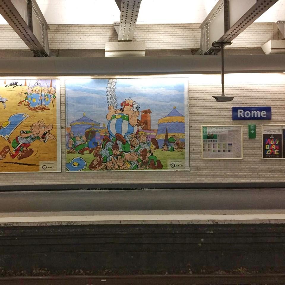 Hommage de la RATP pour les 60ans d'Asterix et d'Obelix Asteri16