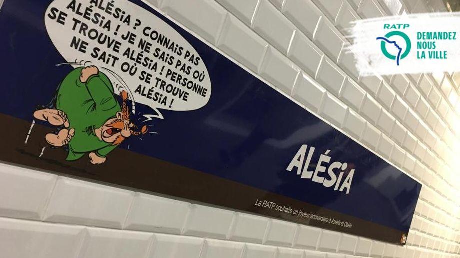 Hommage de la RATP pour les 60ans d'Asterix et d'Obelix Asteri30
