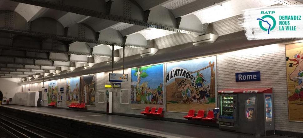 Hommage de la RATP pour les 60ans d'Asterix et d'Obelix Asteri35