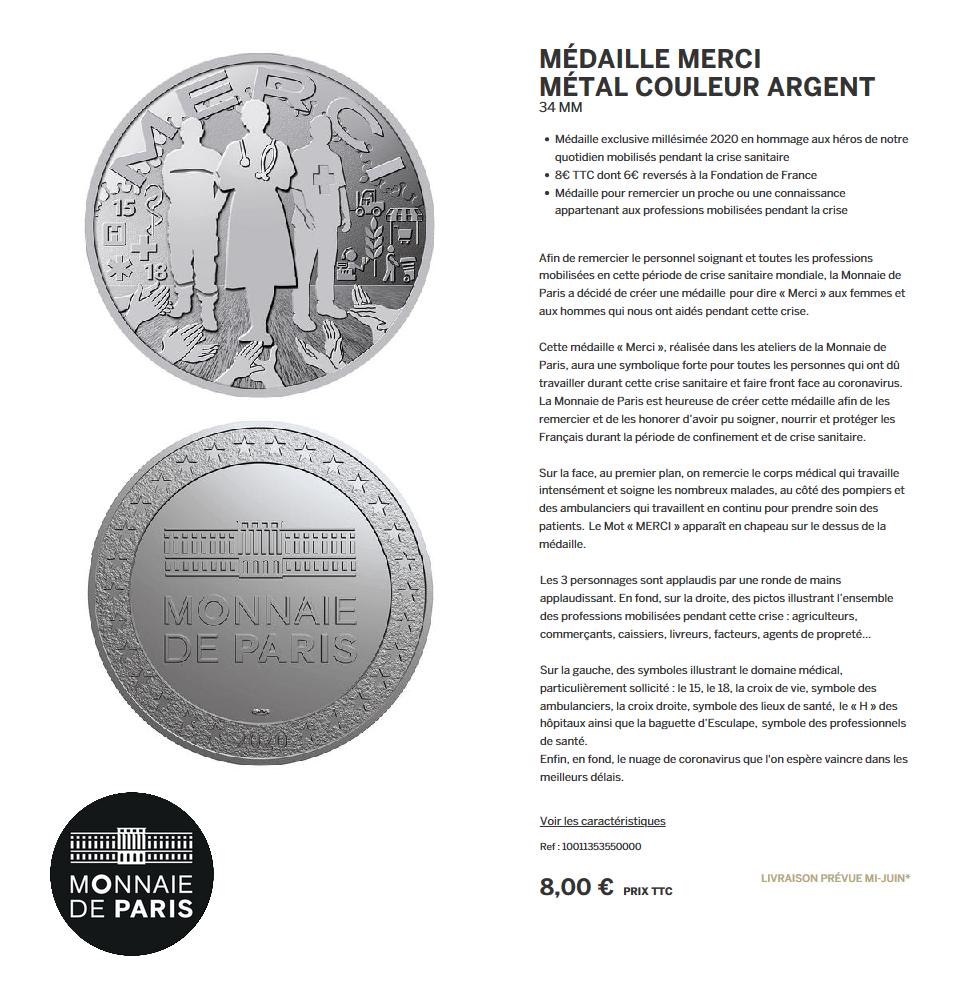 Monnaie de Paris MERCI aux soignants Lmdp_m11