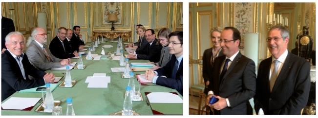 Le FNPF reçue par François Hollande à l'Elysée Fnp_re10