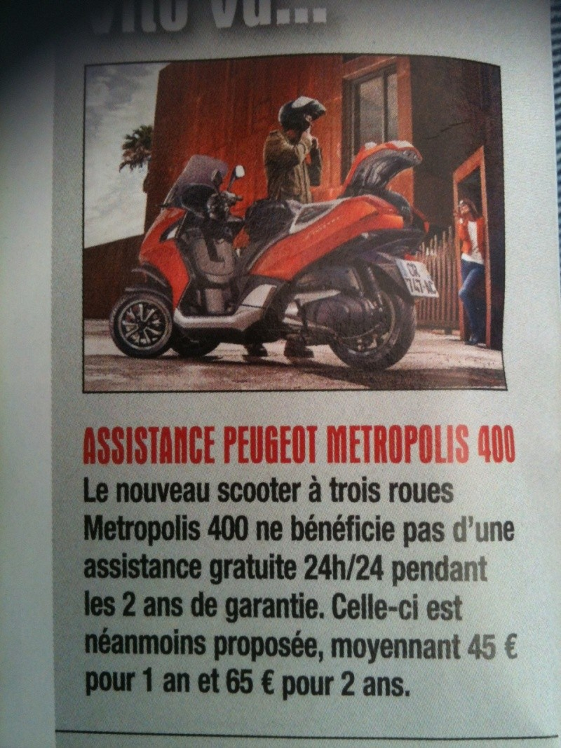 Assistance Peugeot Metropolis Photo10
