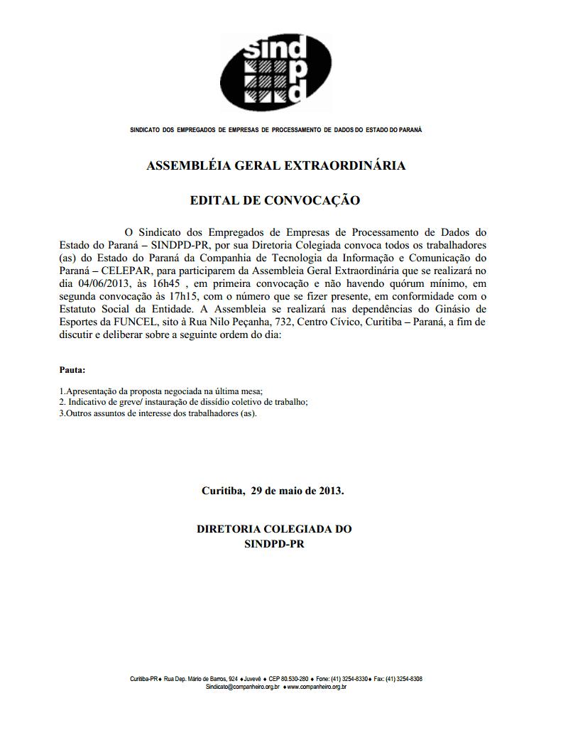 Assembleia Geral Terça-Feira 04/06 - Proposta Aprovada Edital10