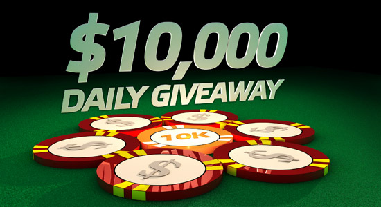 partypoker $10,000 daily giveaway may promotion 10k-da10