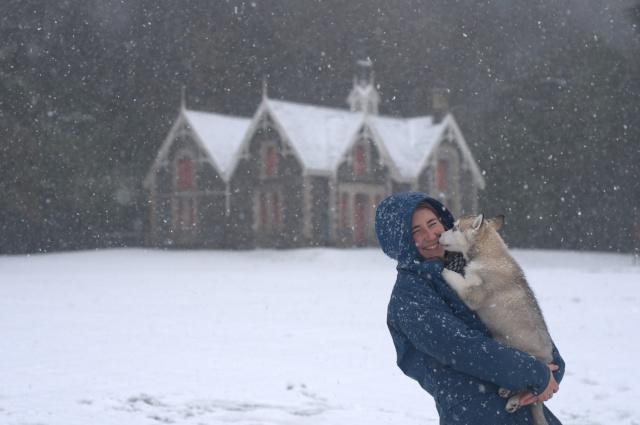Siva's Scrapbook - Siva's First Snow Day Afa_3812