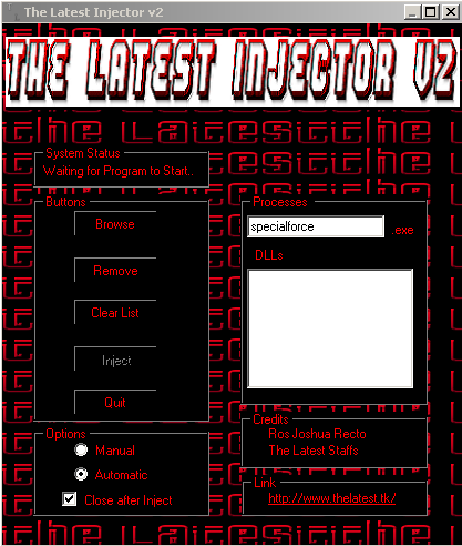 The Latest Injector v2 - created by Ros Joshua Recto :) Thelat10