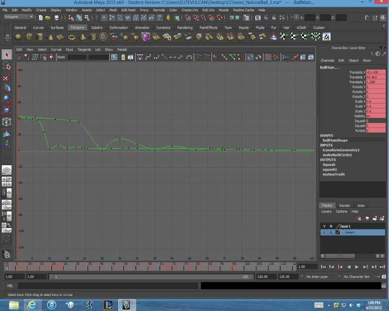 Natural ball bounce W.I.P. Graph_11