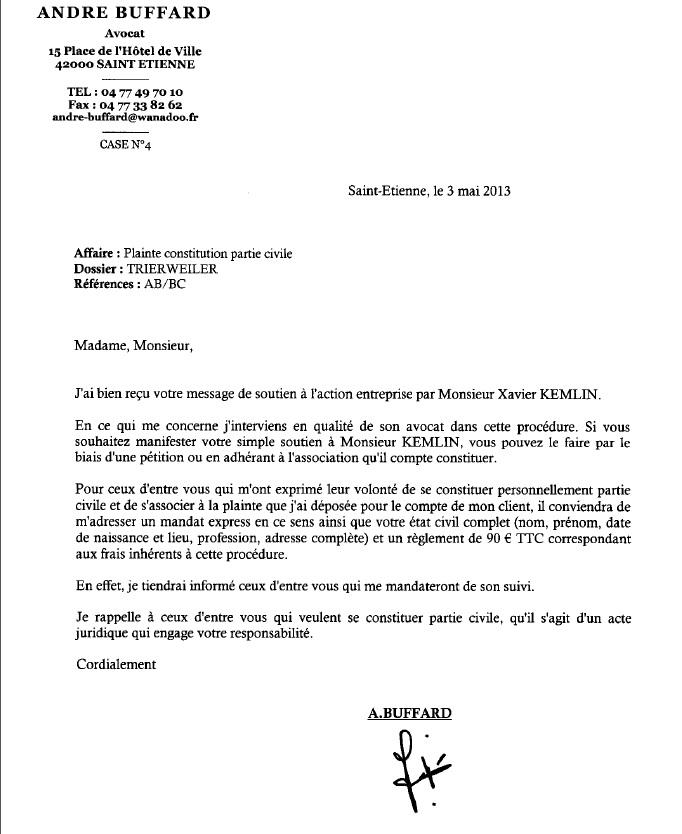 EXCLUSIF sur Révolte : Comment se constituer PARTIE CIVILE dans l'affaire Kemlin contre Trierweiler  Partie10