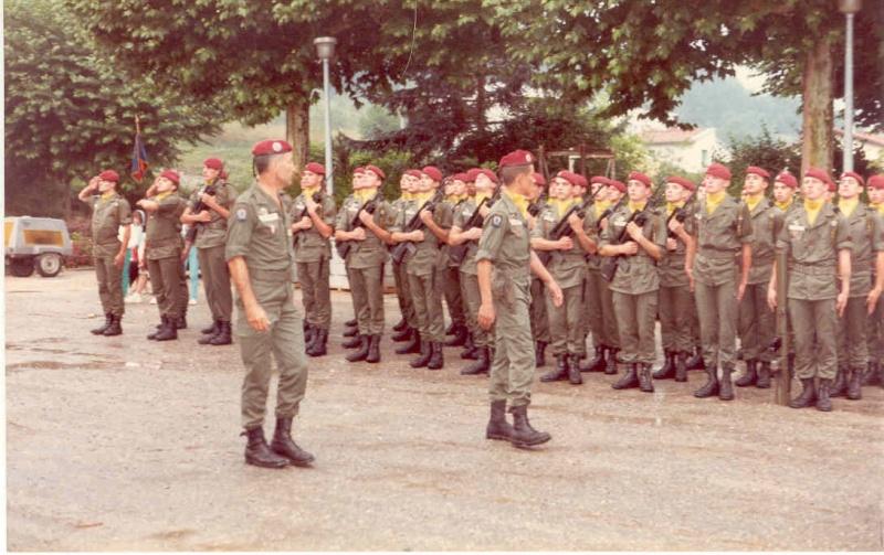 Passation de Cdt de la 2° Cie Capt.FERRANT et Cpt.LEBFEVRE prenant Col_lo10