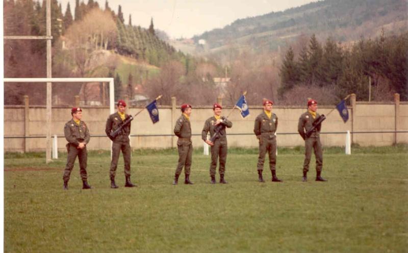 Remise de fourragères a Belesta (09) en 1983  Remise10