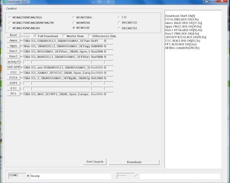 Après mise a jour plantage système, flachage raté, FFS error Multil12