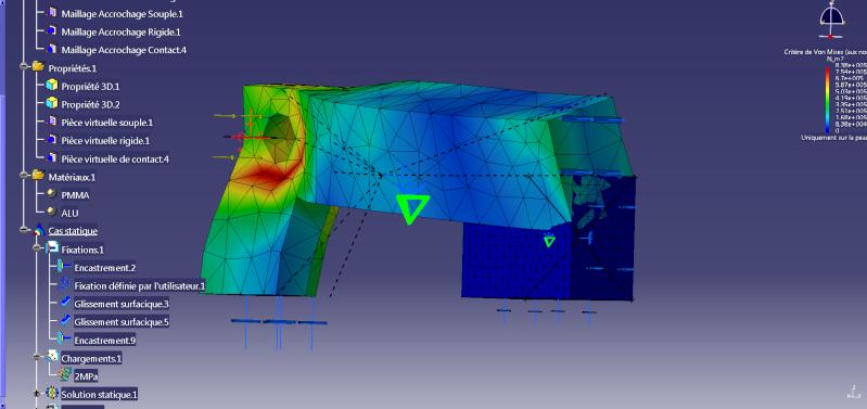 interpénétration entre pièces d'assemblage avec analysis Questi11