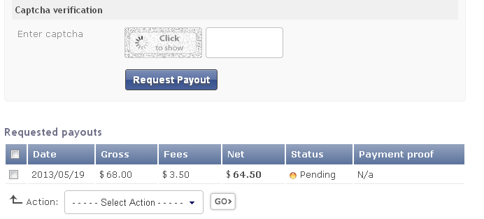 My payment request is pending since 2013/05/19 Reques10