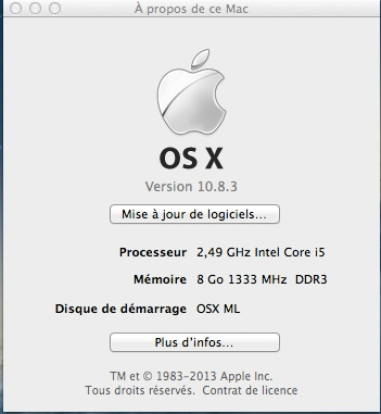 TUTO OSX 10.8.3.  PROBOOK 4540s (C4Y99EA) I5 Apropo18
