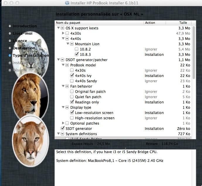 TUTO OSX 10.8.3.  PROBOOK 4540s (C4Y99EA) I5 Hp_ins15