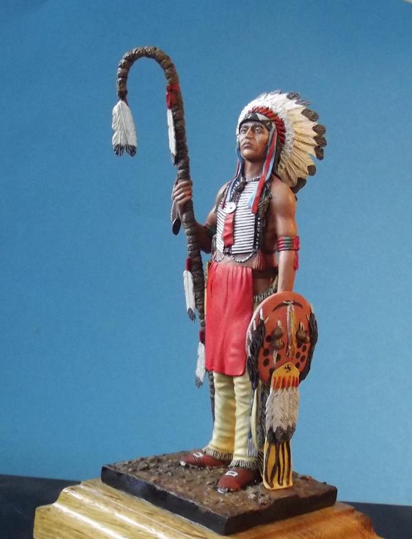 Sioux Lakota Krieger 1860 - 1870 K800_281