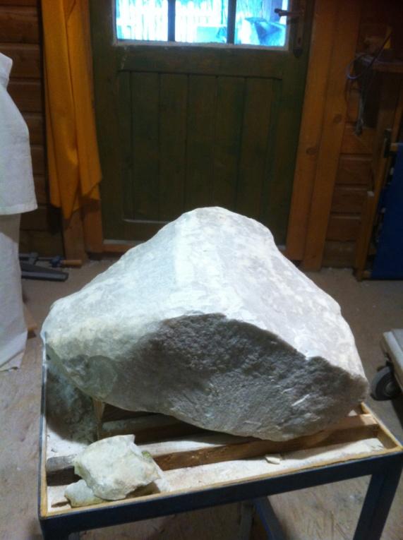 Pas à pas d'une Nymphe en marbre de Carrare Img_4312