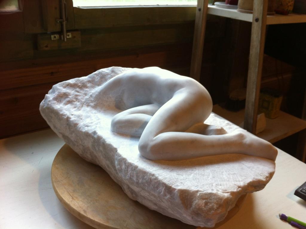 Pas à pas d'une Nymphe en marbre de Carrare Img_4611